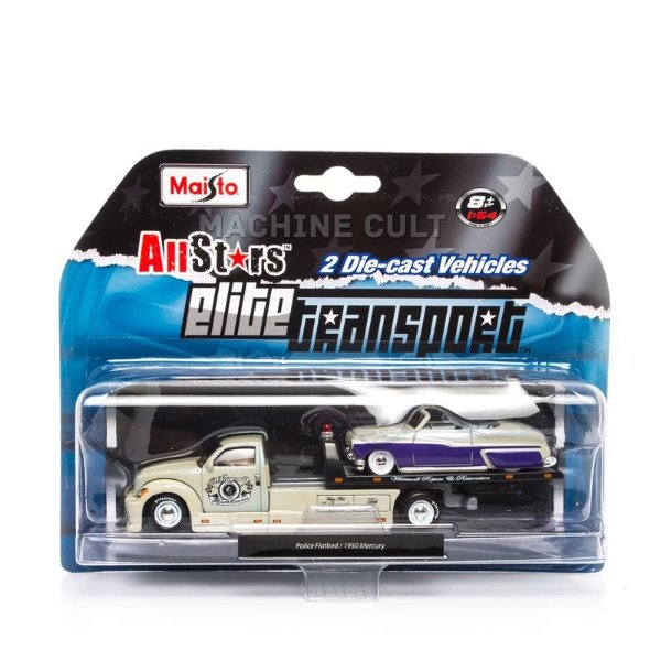 Elite Transport - Police Flatbed + 1950 Mercury - Maisto 1:64