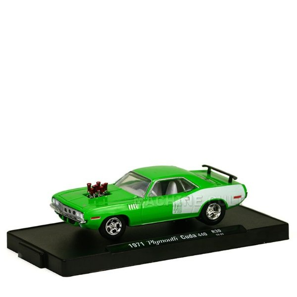 Miniatura 1971 Plymouth Cuda 440 - M2 Machines 1:64