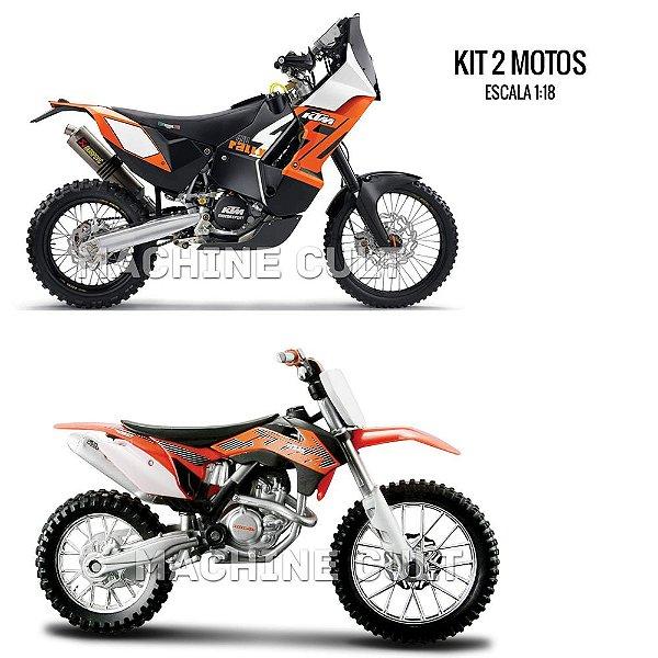 Kit de Miniaturas de Moto KTM Maisto 1:18 - Box 1