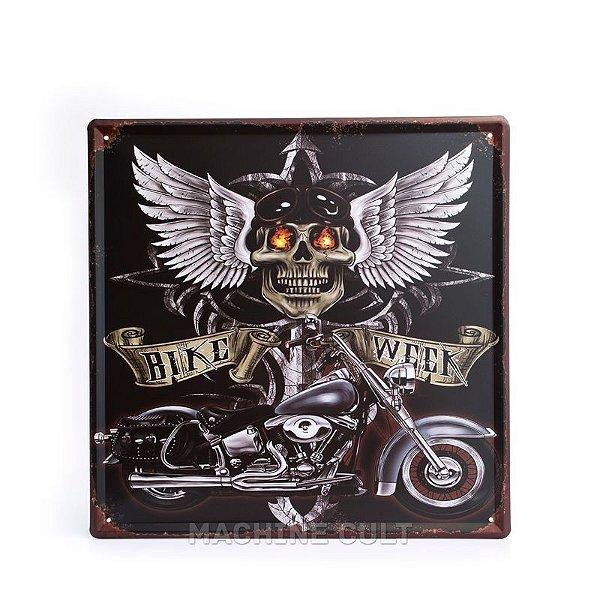 Placa em Metal Encontro Moto