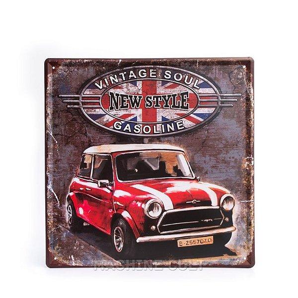 Placa Decorativa Mini Cooper