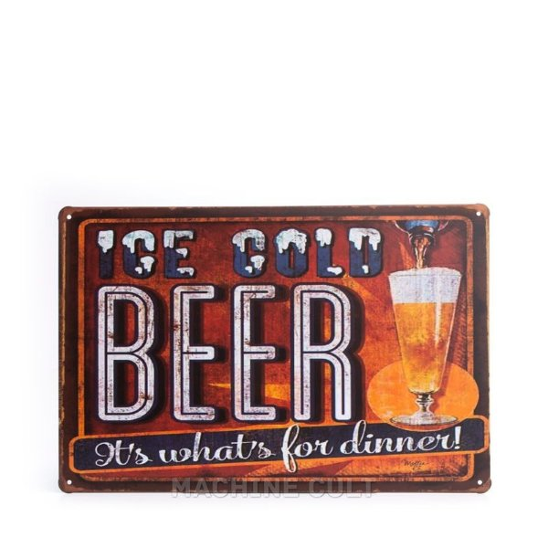 Placa em Metal Cerveja