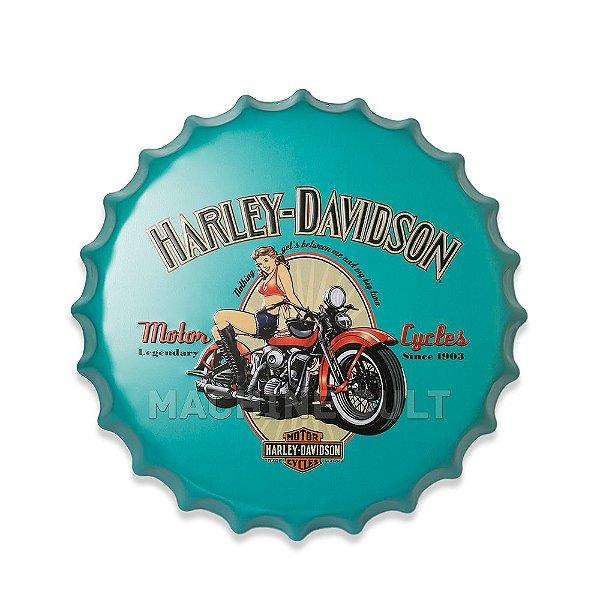 Placa Harley-Davidson M2 - Alto Relevo
