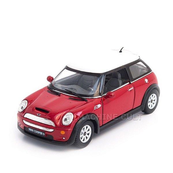 Miniatura Mini Cooper S Vermelho - 1:28