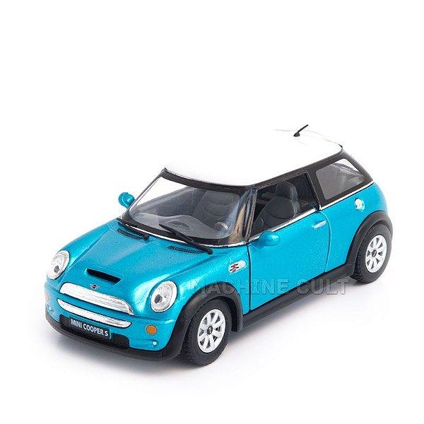 Miniatura Mini Cooper S Azul - 1:28