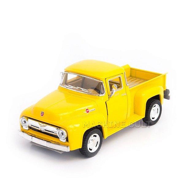 Miniatura Ford Pickup F100 1956 Amarela - 1:38