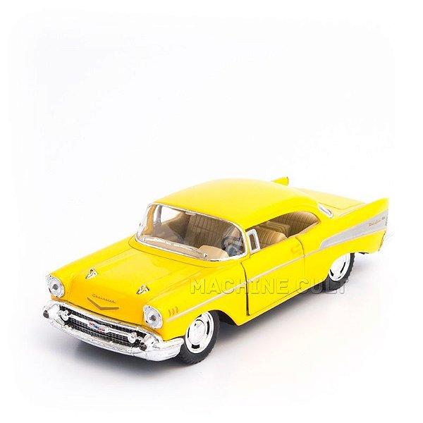 Miniatura Chevrolet Bel Air 1957 Amarelo - 1:40