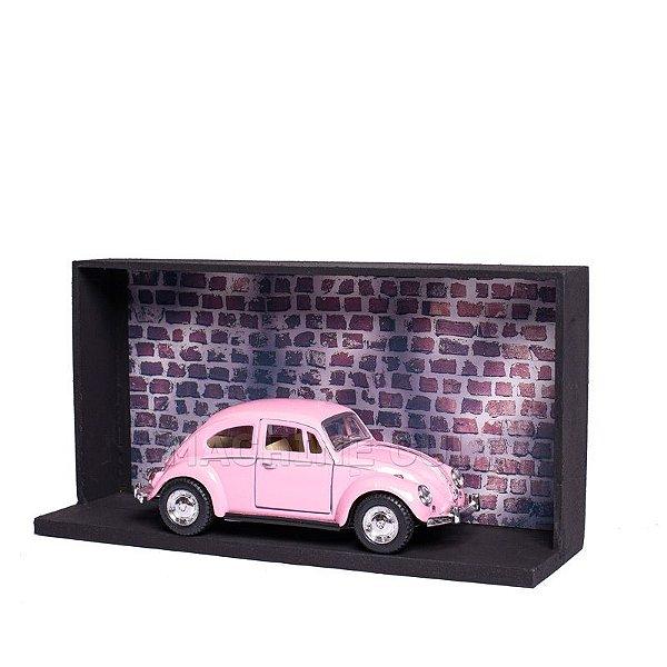 Miniatura Fusca 1967 Rosa - 1:32