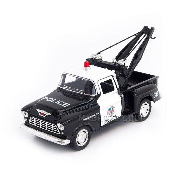 Miniatura Guincho PolÌ_cia - Chevy Stepside Pickup 1955 - 1:32