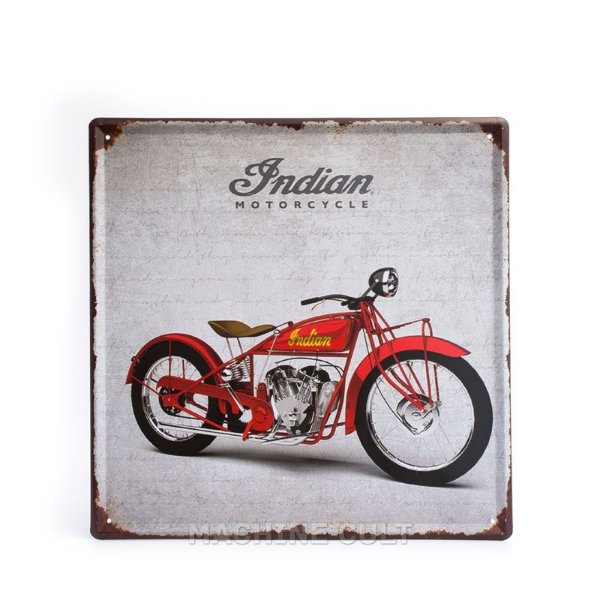 Placa Decorativa em Metal - Moto Indian