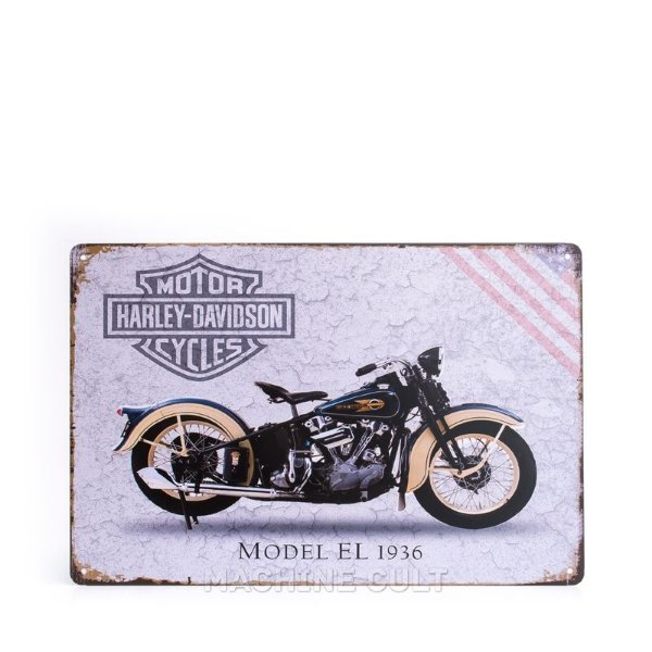 Placa Harley-Davidson Model EL 1936