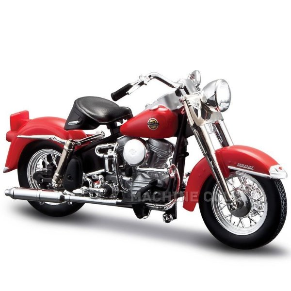 Miniatura Harley-Davidson 1958 FLH Duo Glide - Série 33 - Maisto 1:18