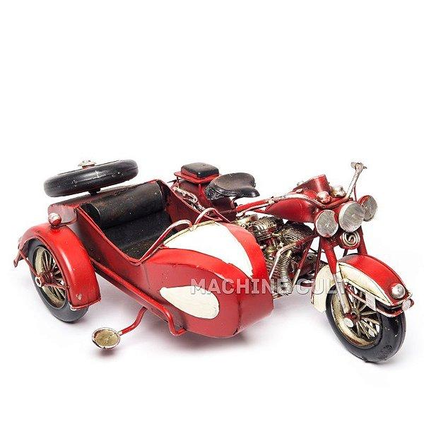 Moto Sidecar Vermelha