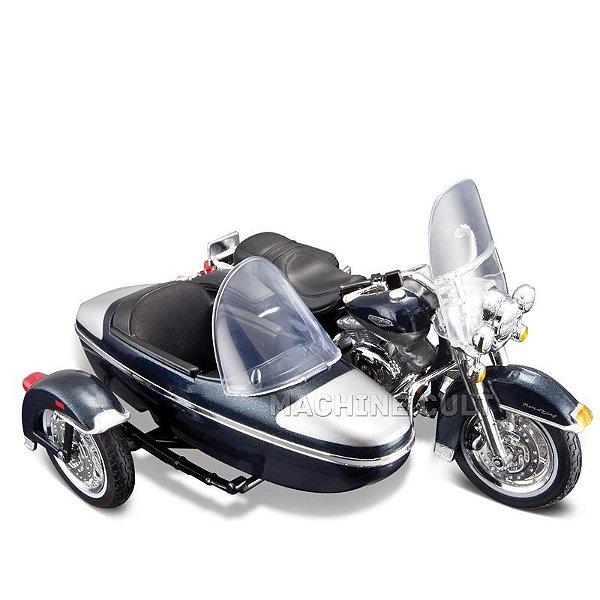 Miniatura Sidecar Harley-Davidson 2001 FLHRC Road King Classic - Maisto 1:18