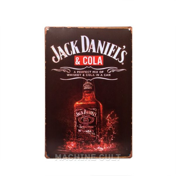 Placa Bebida Jack Daniel's & Cola