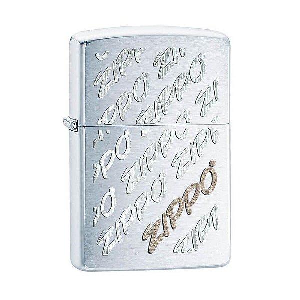Isqueiro Zippo 28642 Classic Twist Logo Escovado