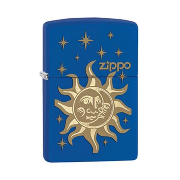 Isqueiro Zippo 28791 Classic Sol e Lua Azul Royal