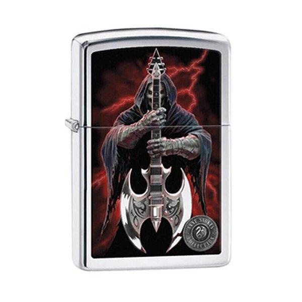 """Isqueiro Zippo 29109 Classic Anne Strokes """"Coleção 7 - Guitar Reaper"""""""