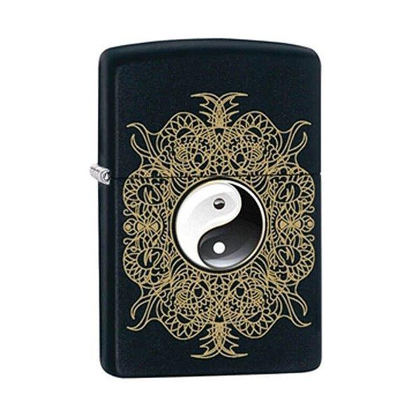 Isqueiro Zippo 28829 Classic Yin Yang Artístico Preto