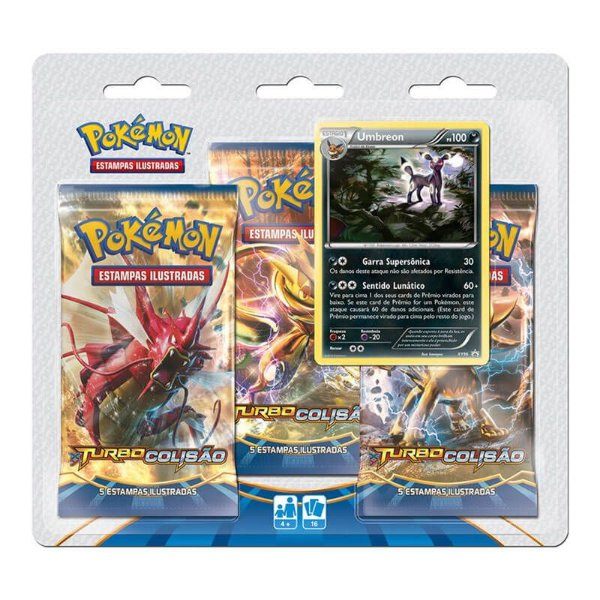 Pokémon TCG Triple Pack Umbreon - XY 9 Turbo Colisão