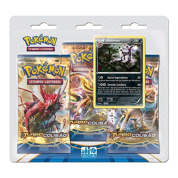 Pokémon TCG Triple Pack Umbreon - XY 9 Turbo Colisão