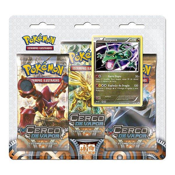 Pokémon TCG Triple Pack Rayquaza - XY 11 Cerco de Vapor