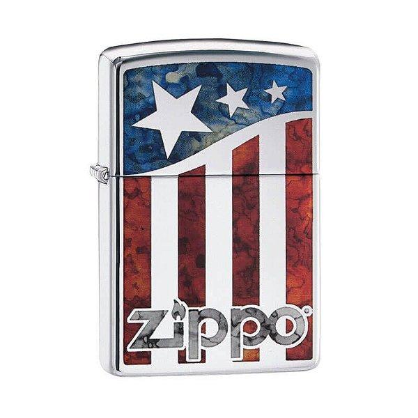 Isqueiro Zippo 29095 Classic US Flag Polido