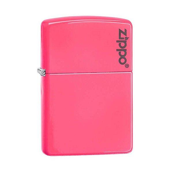 Isqueiro Zippo 28886ZL Classic Rosa Neon com Logo