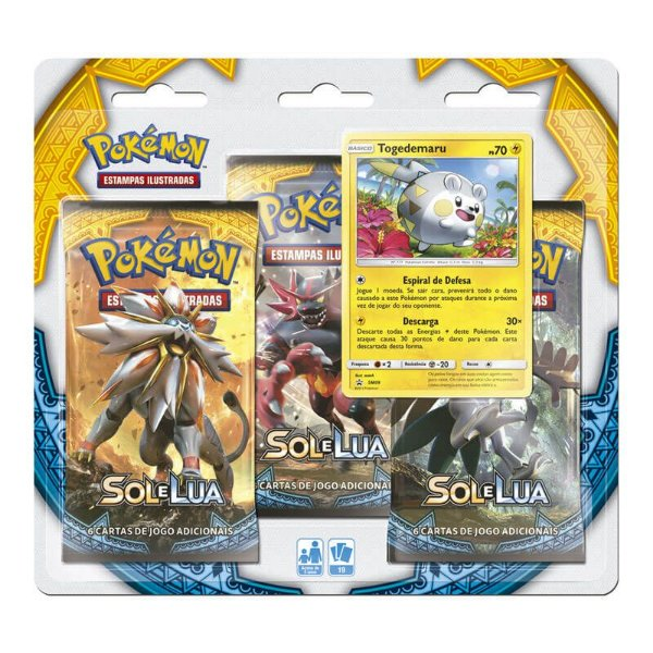 Pokémon TCG: Triple Pack SM1 Sol e Lua - Togedemaru