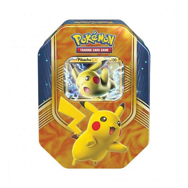 Pokémon TCG: Lata Colecionável Batalha de Coração - Pikachu EX
