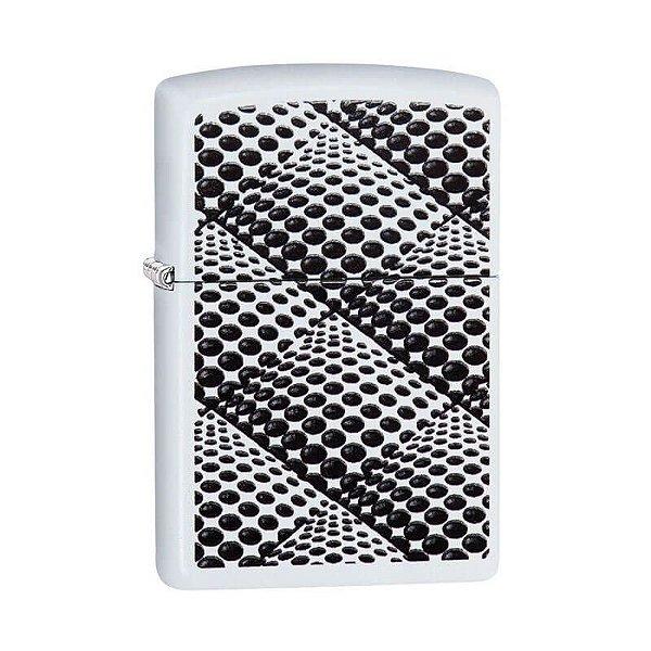 Isqueiro Zippo 29416 Classic Dots and Boxes Branco