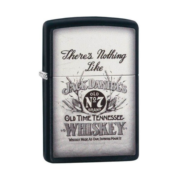 "Isqueiro Zippo 29293 Classic ""There's Nothing Like Jack Daniel's"" Preto"