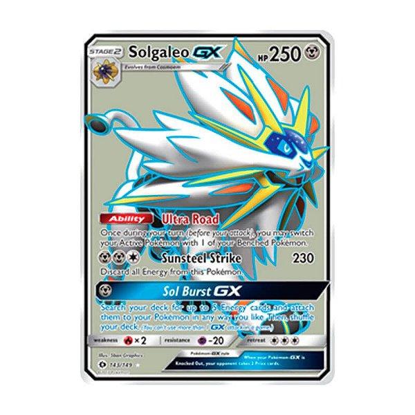 Pokémon TCG: Solgaleo GX (143/149) - SM1 Sol e Lua