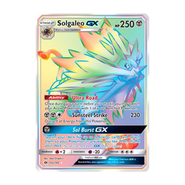 Pokémon - Solgaleo GX (155/149) - SM 1 Sol e Lua