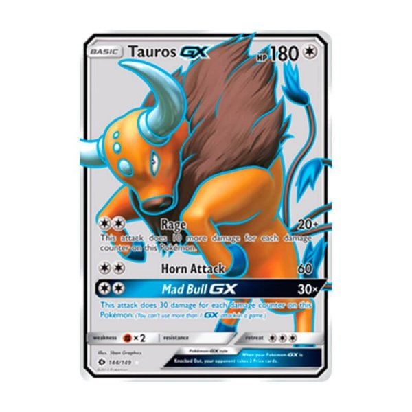 Pokémon TCG: Tauros GX (144/149) - SM1 Sol e Lua