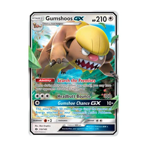 Pokémon TCG: Gumshoos GX (110/149) - SM1 Sol e Lua