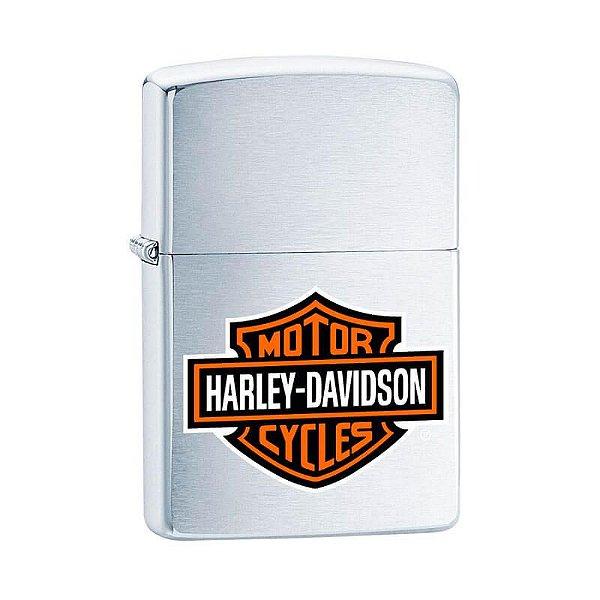Isqueiro Zippo 200HD.H252 Harley-Davidson® Logo Colorido Escovado