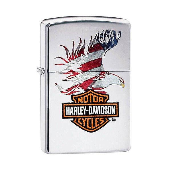 Isqueiro Zippo 28082 Classic Harley-Davidson® Eagle Flag Polido