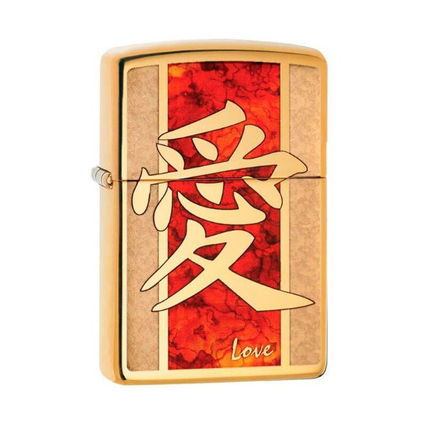 Isqueiro Zippo 28953 Classic Amor Chinês Bronze Polido