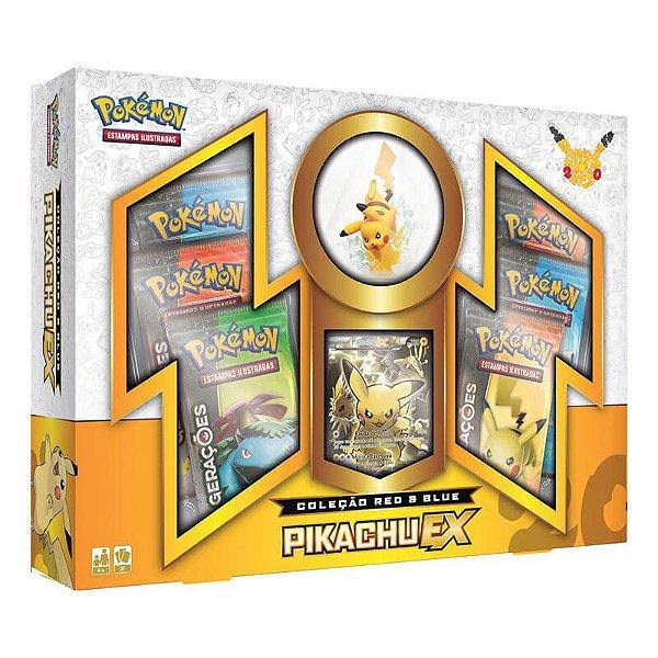 Pokémon TCG: Box Coleção Red & Blue - Pikachu EX