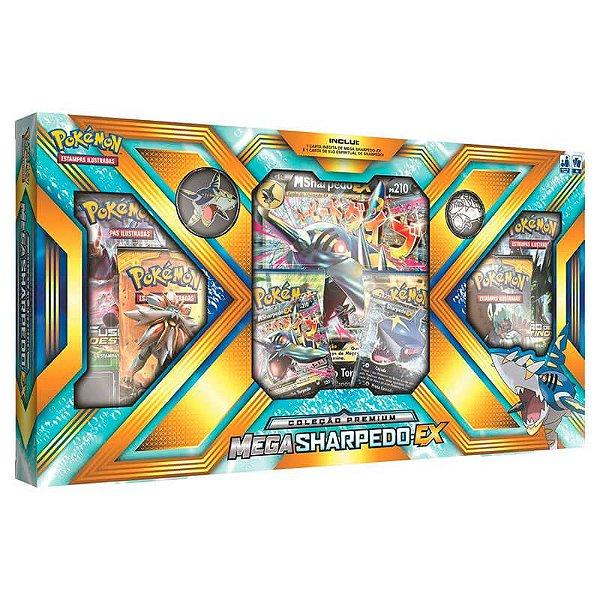 Pokémon TCG: Box Coleção Premium - Mega Sharpedo-EX