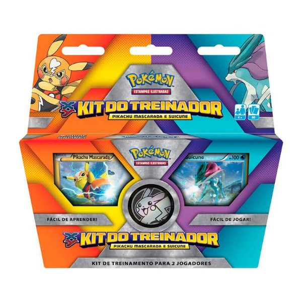 Pokémon TCG: Deck Kit do Treinador - Pikachu Mascarada e Suicune