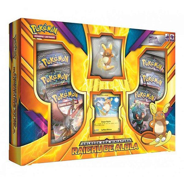 Pokémon TCG: Box Coleção com Miniatura - Raichu de Alola