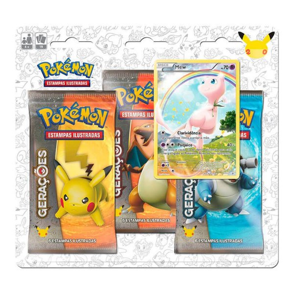 Pokémon TCG: Triple Pack Gerações - Mew