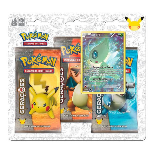 Pokémon TCG: Triple Pack Gerações - Celebi