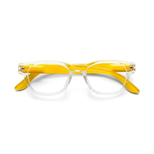 aef68e9c0709d Óculos de Leitura Super Bold B+D Cristal Amarelo - Gerilu.com.br