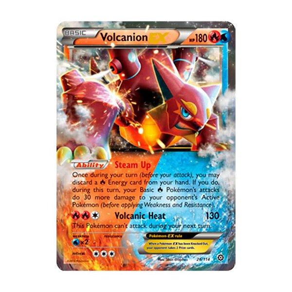 Pokémon TCG: Volcanion EX (26/114) - XY11 Cerco de Vapor
