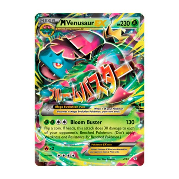 Pokémon TCG: Mega Venusaur EX (2/83) - Gerações
