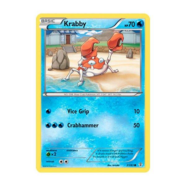 Pokémon TCG: Krabby (21/83) - Gerações