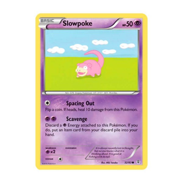 Pokémon TCG: Slowpoke (32/83) - Gerações